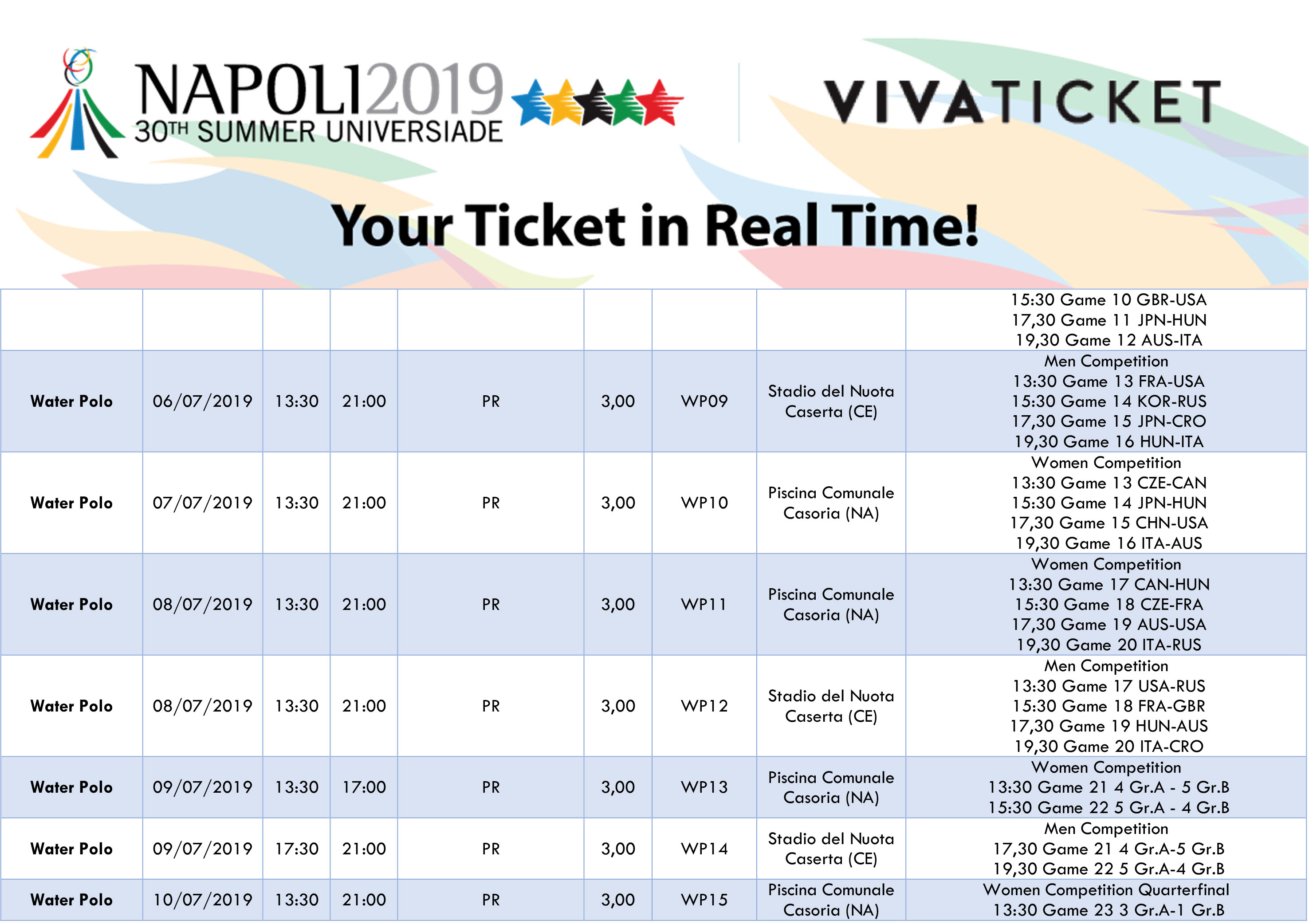 Calendario Universiadi.Universiadi Napoli 2019 Calendario Eventi Pallanuoto Alba